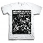 Transformers Fall of Cybertron Black on White Adult T-Shirt