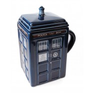 Doctor Who Figural Tardis Mug with removable lid