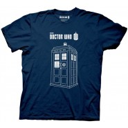 Doctor Who Linear Tardis Adult T-Shirt
