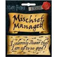Harry Potter Mischief Managed and I Solemnly  Swear 4 x 4 1/2 Inch Sticker