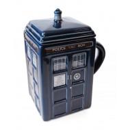 Doctor Who Figural Tardis Mug with removable lid
