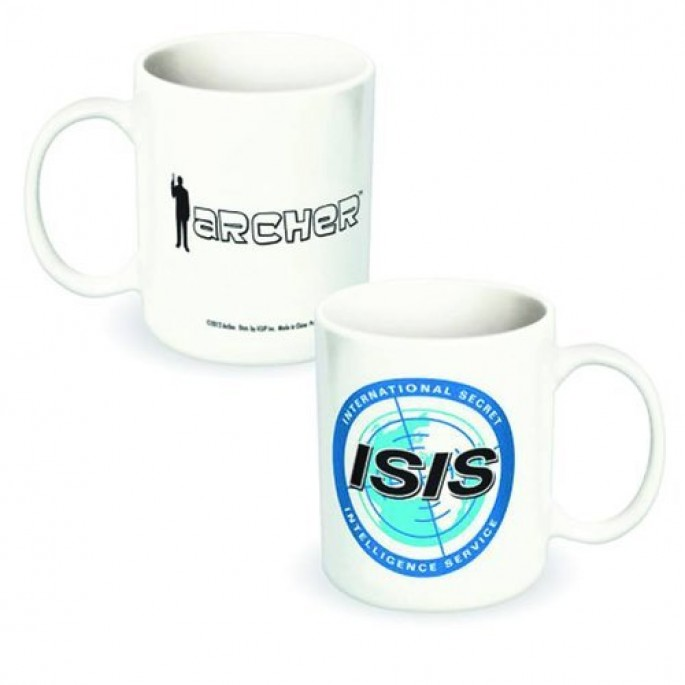 Archer ISIS Logo White Ceramic 12oz Mug