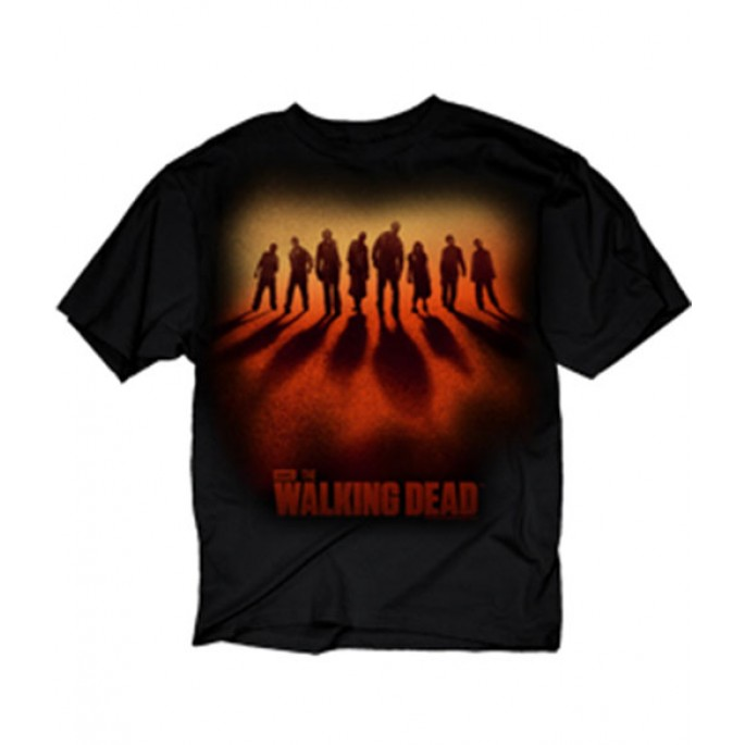 The Walking Dead Zombie Sunset Line Up Adult T-Shirt
