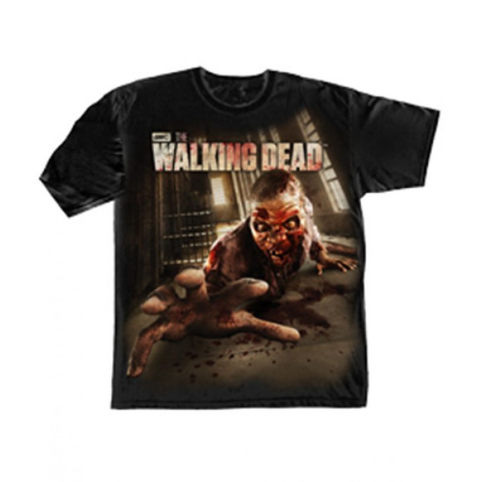 The Walking Dead Cell block Crawler Adult T-Shirt