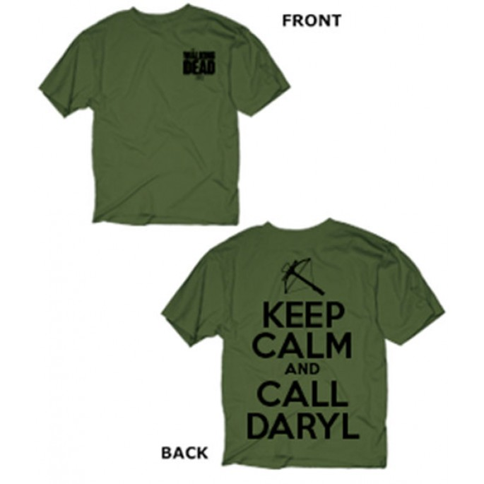 The Walking Keep Calm and Call Daryl Adult T-Shirt