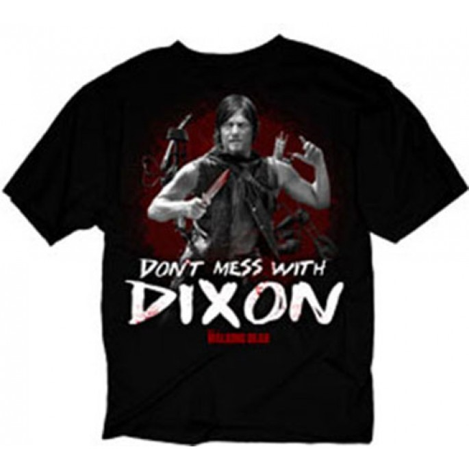 The Walking Dead Don't Mess with Dixon Black Adult T-Shirt