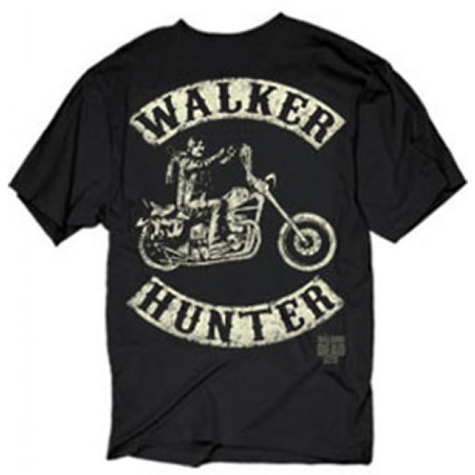 The Walking Dead Daryl on Bike - Distressed Design Black Adult T-Shirt