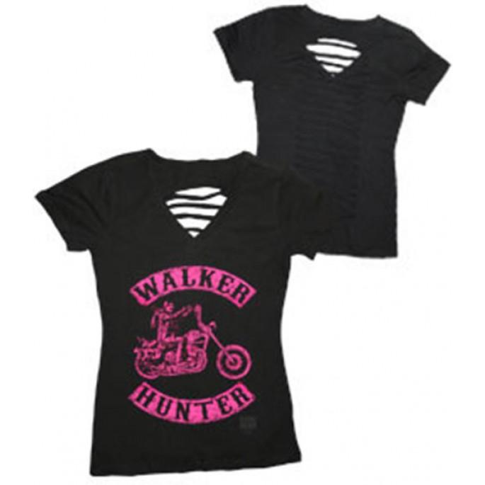 The Walking Dead Walker Hunter Pink Braided Women's T-Shirt