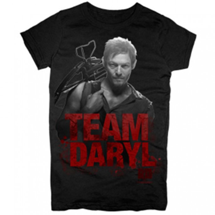 The Walking Dead Team Daryl Women's Juniors T-Shirt
