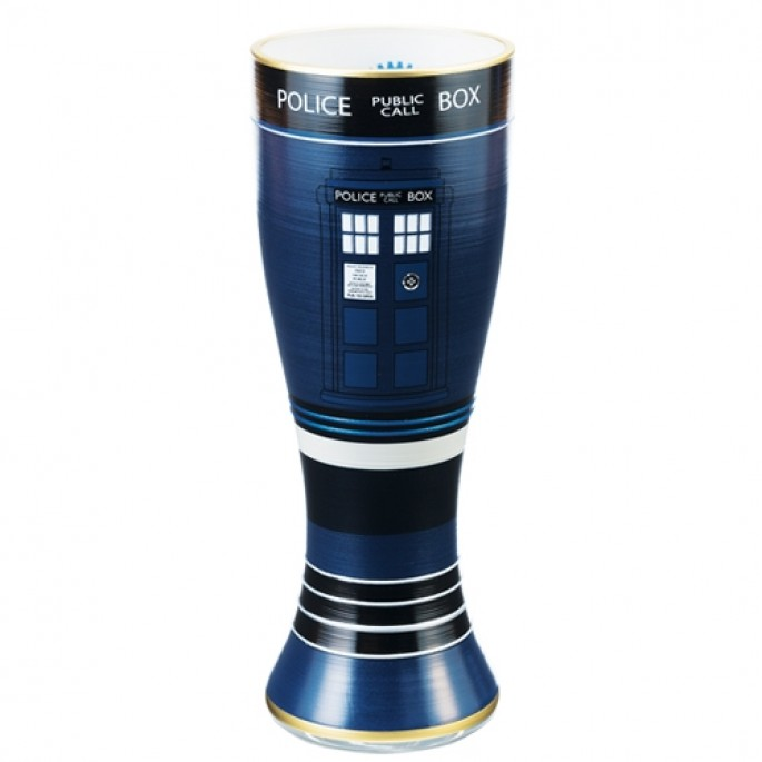 Doctor Who TARDIS 20 oz. Hand Painted Glass