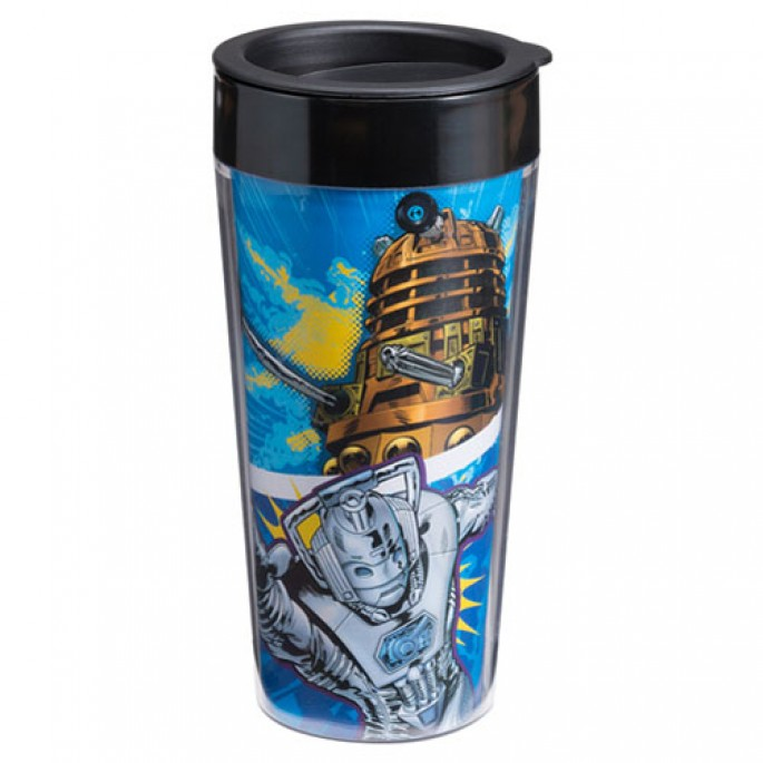 Doctor Who Comics 16 oz Travel Mug