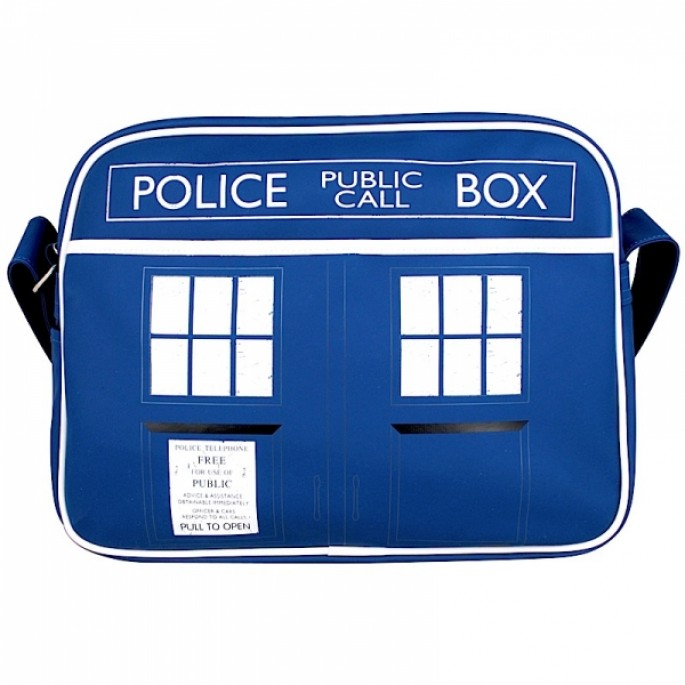Doctor Who Retro Style Tardis Sports Bag