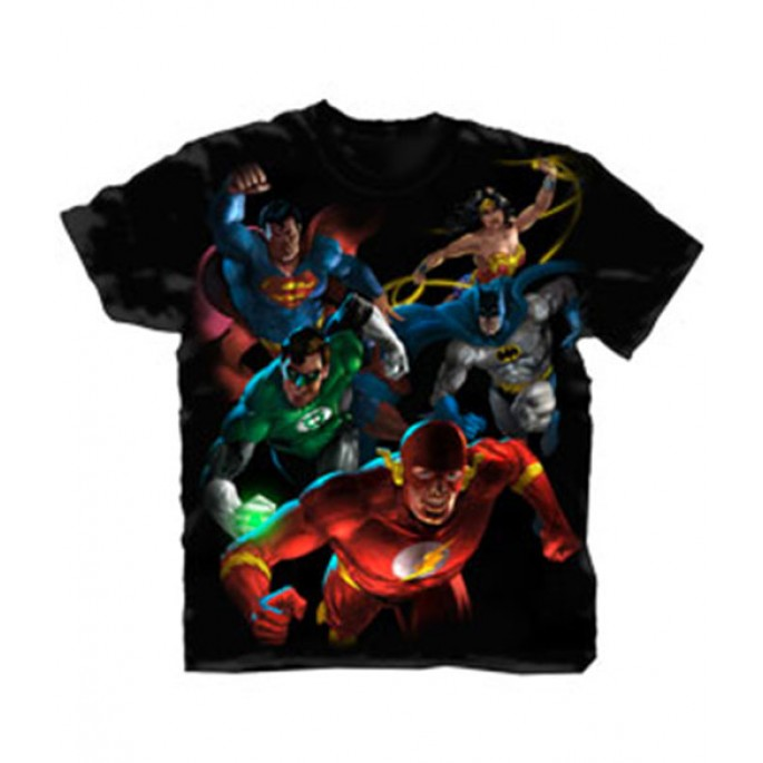 DC Comics Painted DC Group Adult T-Shirt