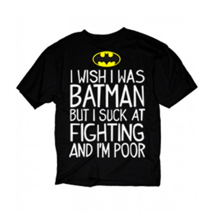 Batman I Wish I Was Batman Adult T-Shirt
