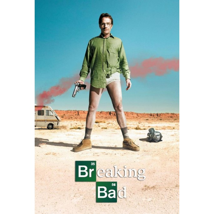 Breaking Bad Walter in Underwear Poster