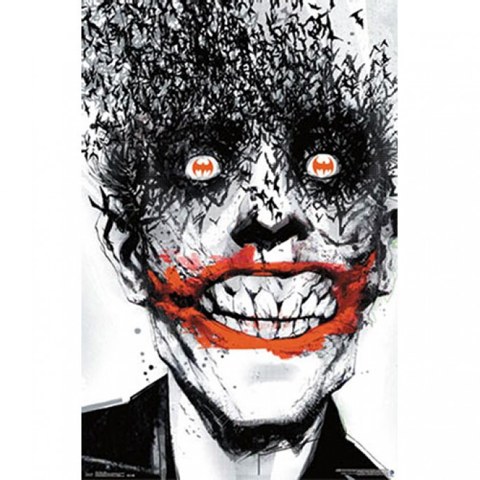 Batman Joker Bats Face Poster
