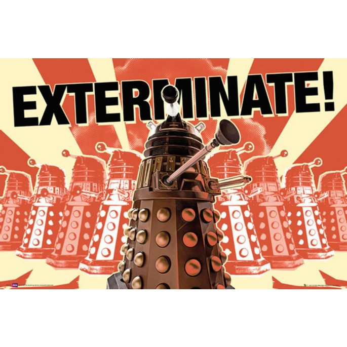 Doctor Who Daleks Exterminate Poster