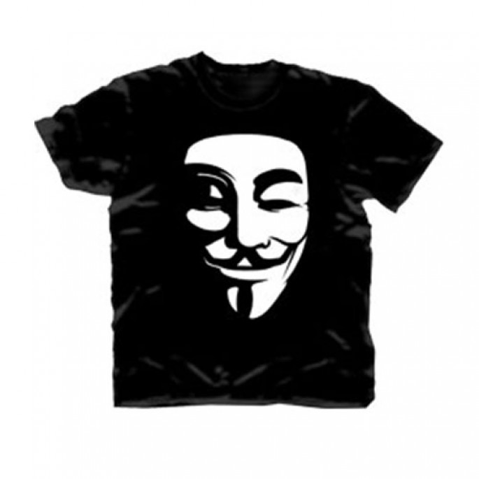 V For Vendetta V Mask Adult T-Shirt