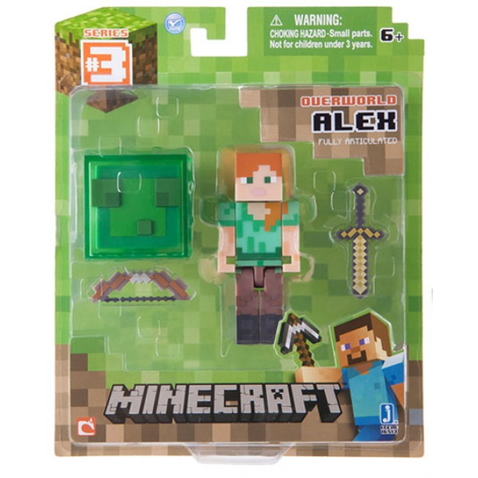 Minecraft Alex Figure With Slime Box Accessory Action Figure