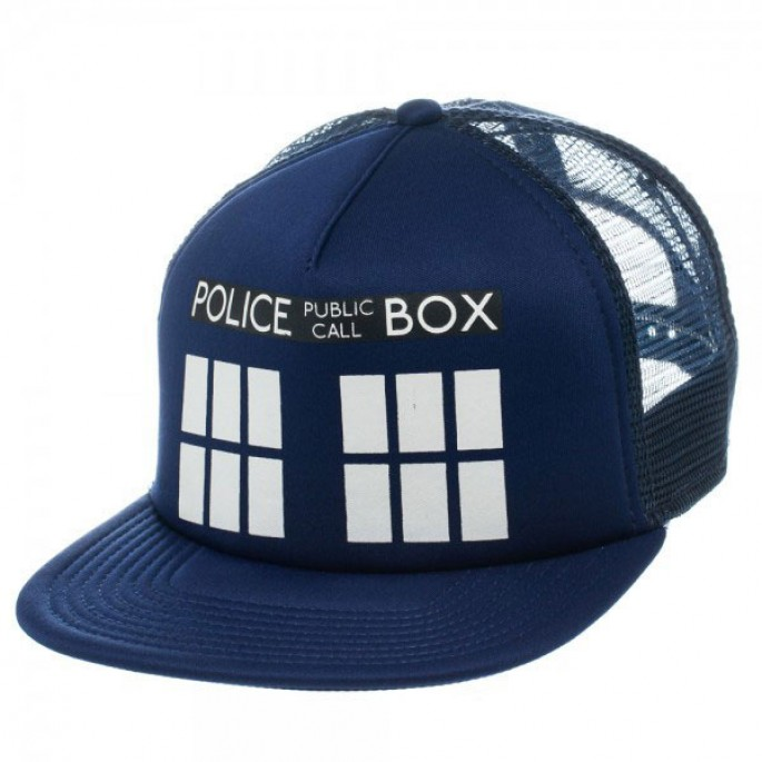 Doctor Who Blue Tardis Trucker Hat