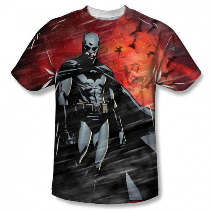 Batman Begins Frenzy Single Sided Sublimation Adult T-shirt