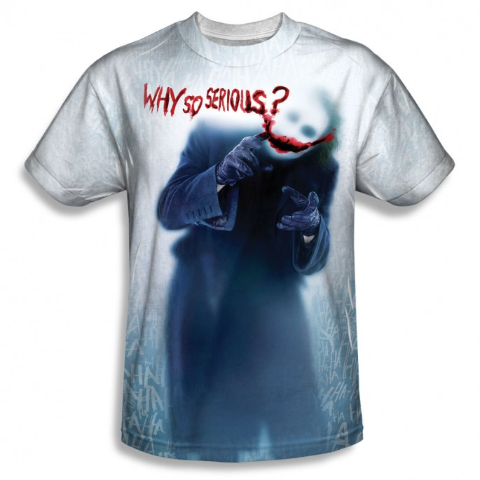 Batman Dark Knight Joker Why So Serious Single Sided Sublimation Adult T-shirt
