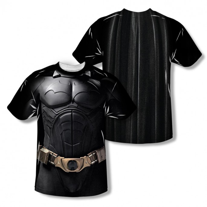 Batman Begins Costume Sublimation Adult T-shirt