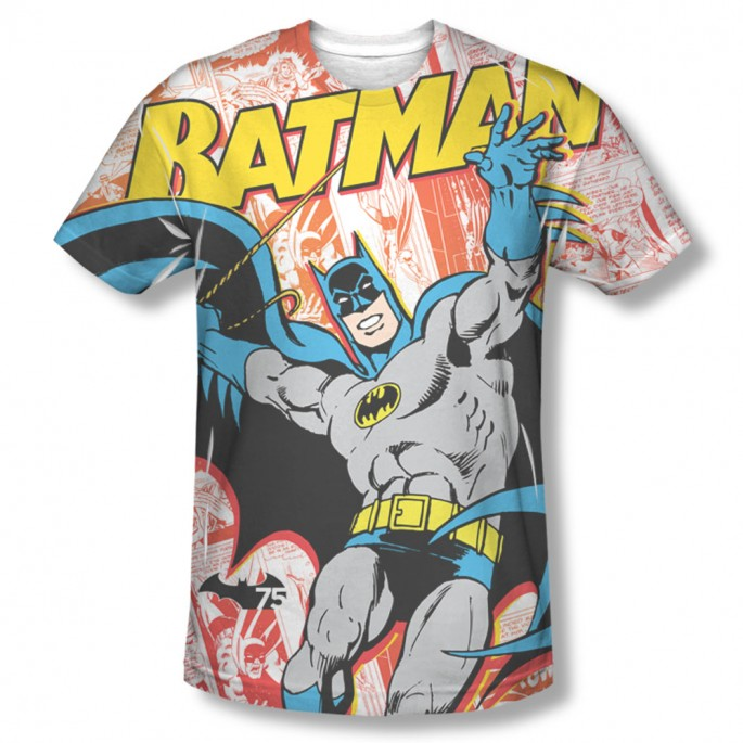 Batman 75 Panels Single Sided Sublimation Adult T-shirt