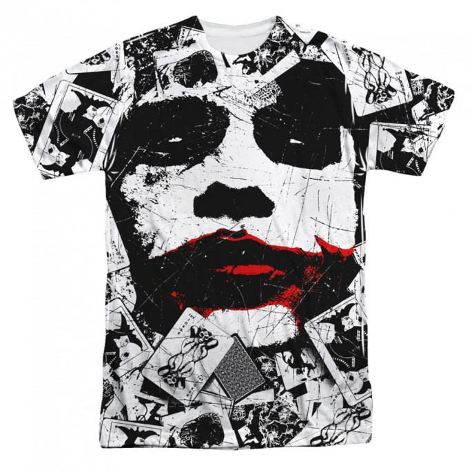 Batman Dark Knight Joker Joke Doe Single Sided Sublimation Adult T-shirt