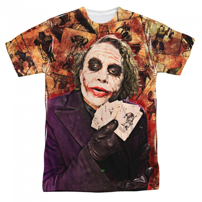 Batman Dark Knight Jokers Wild Single Sided Sublimation Adult T-shirt