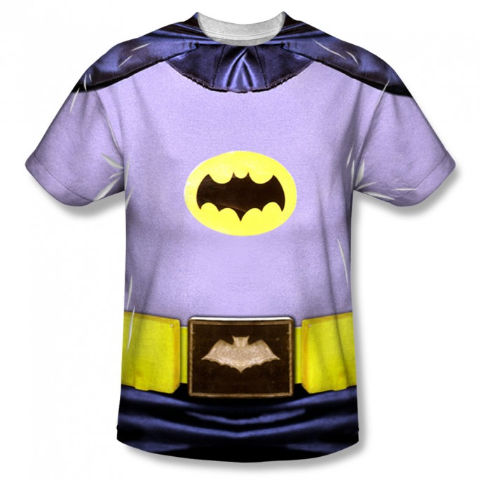 Batman Classic Batman Single Sided Sublimation Adult T-shirt