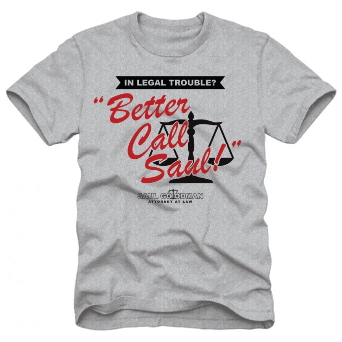 Better Call Saul Logo Grey Adult T-Shirt