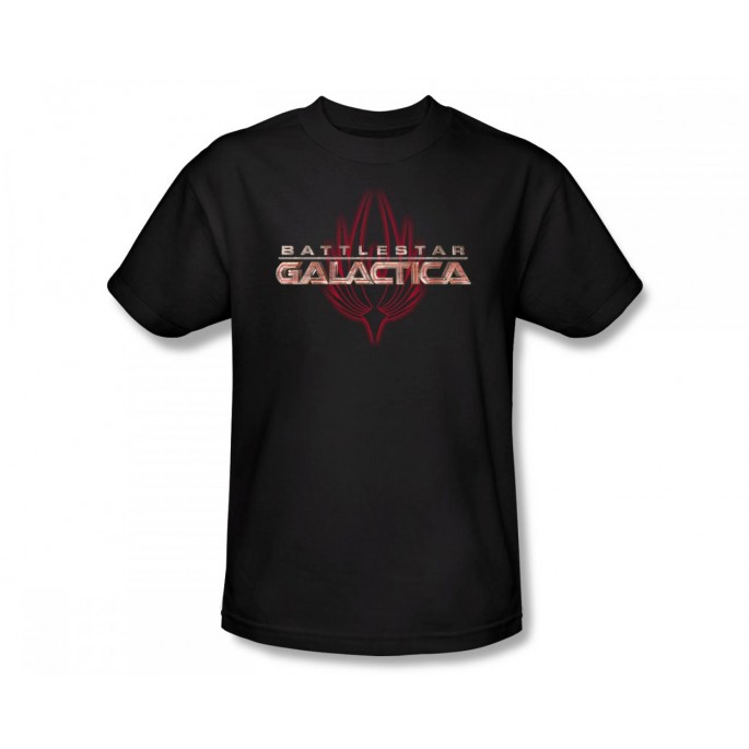 Battlestar Galactica (SyFy) Logo With Phoenix  Adult T-Shirt