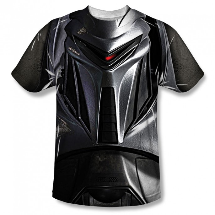 Battlestar Galactica Cylon Face One Side Adult Sublimation T-Shirt