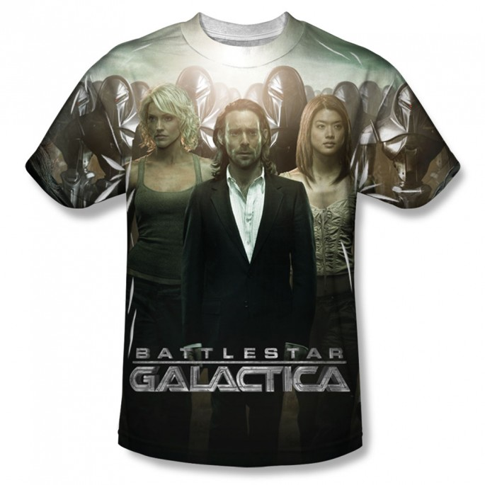 Battlestar Galactica Destiny Walk One Side Adult Sublimation T-Shirt