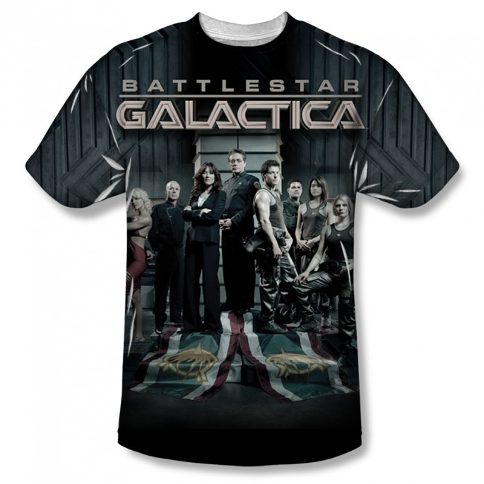 Battlestar Galactica Fallen Leader Single Side Sublimation Adult T-Shirt