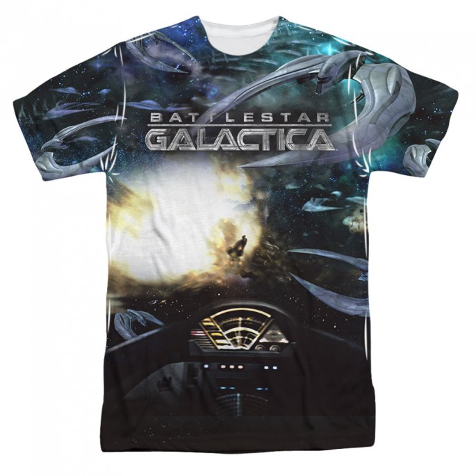 Battlestar Galactica Battle Seat One Side Adult Sublimation T-Shirt
