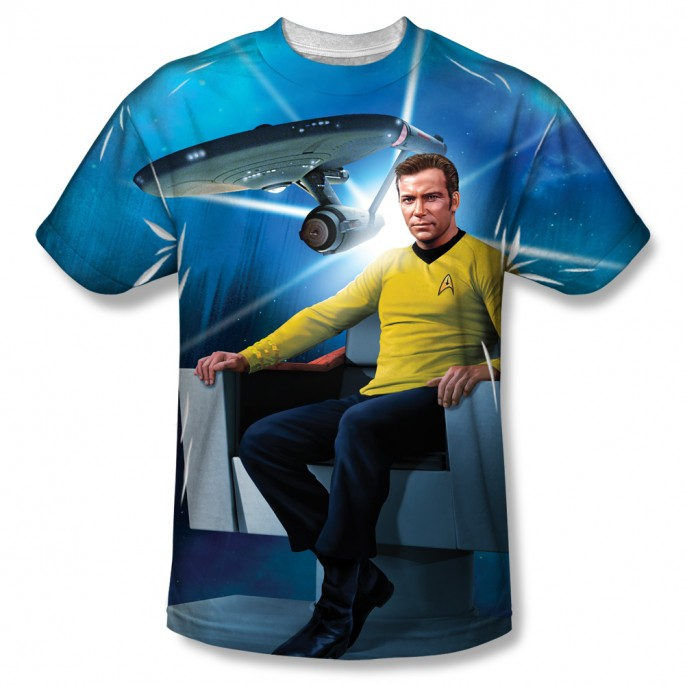Star Trek Kirk's Ship One Side Sublimation Print Adult T-shirt