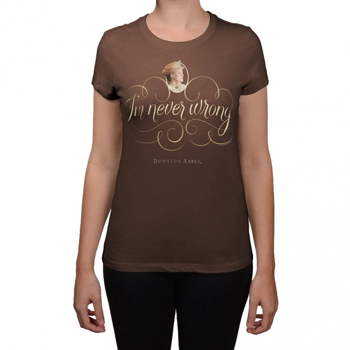Downton Abbey Never Wrong Brown Women's Fitted T-shirt