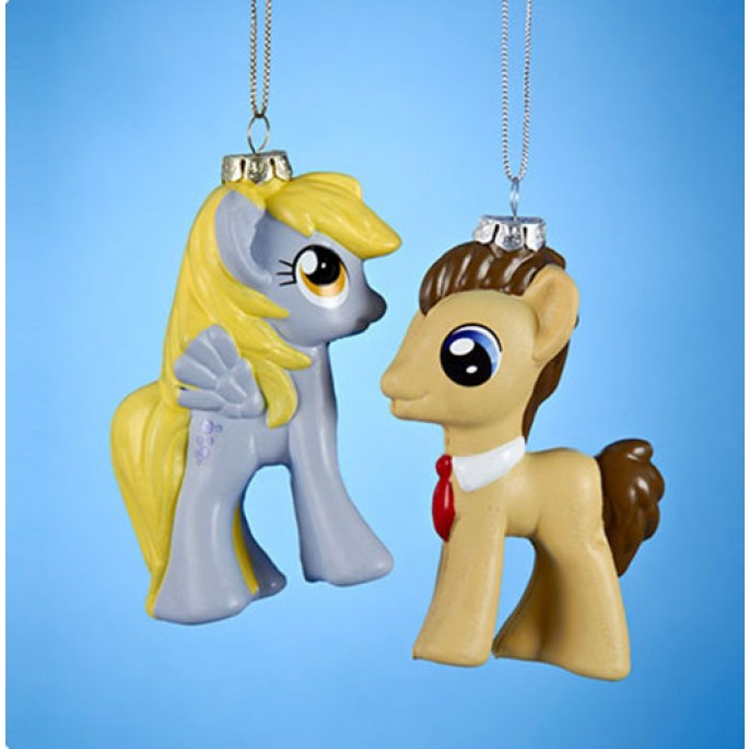 Doctor Hooves and Derpy Injection Mold Ornament Set