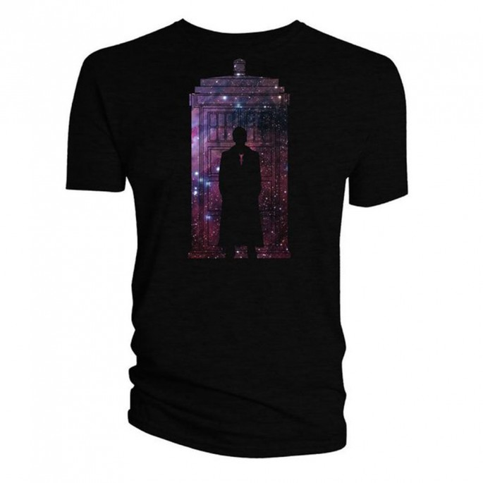 Doctor Who David Tennant Galaxy Silhouette Mens T-Shirt