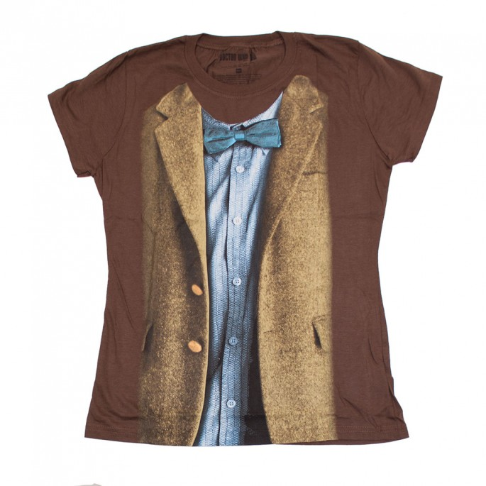 Doctor Who 11th Doctor Blue Shirt Costume Women's Juniors T-Shirt