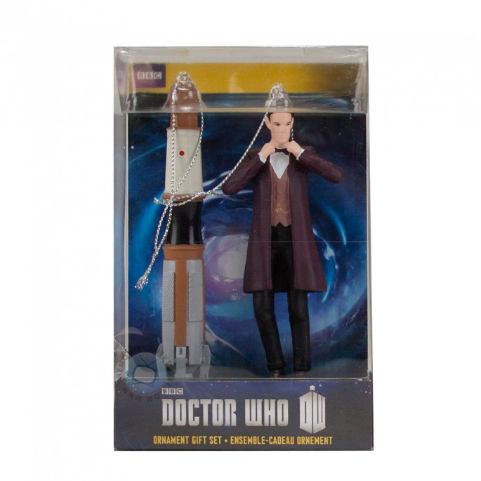 Doctor Who 11th Doctor and Sonic Screwdriver 2 Piece Ornament Set
