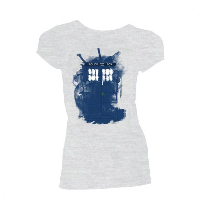Doctor Who Modern Art Tardis Womens / Juniors T-Shirt