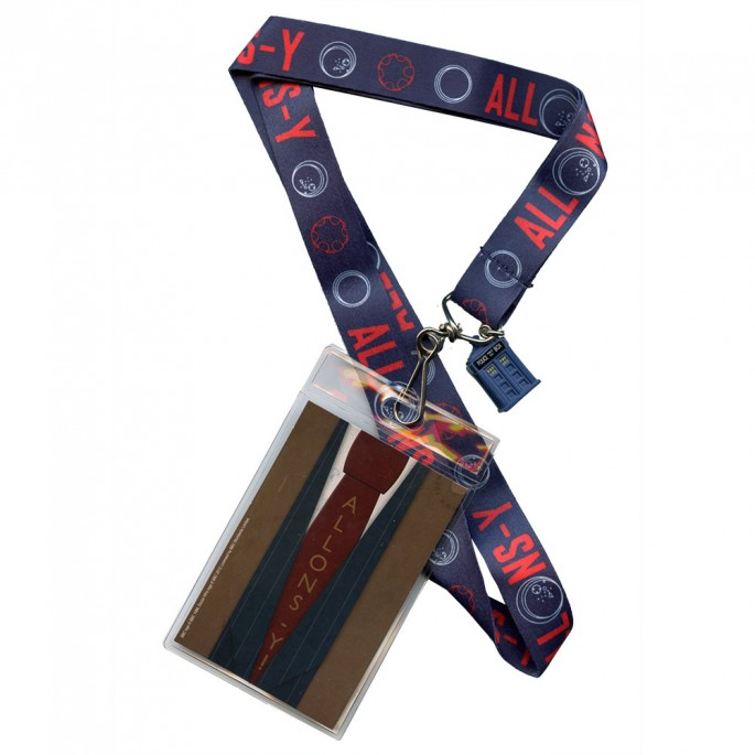 Doctor Who 10th Doctor Allons Y with 3D Tardis Lanyard
