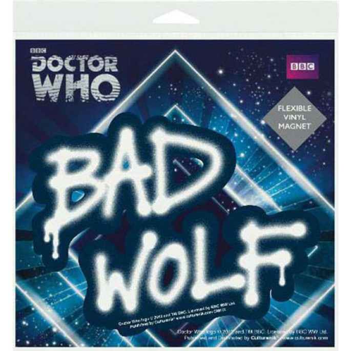 Doctor Who Bad Wolf Flexible Vinyl Magnet