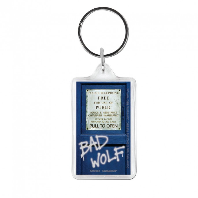 Doctor Who Keyring Bad Wolf