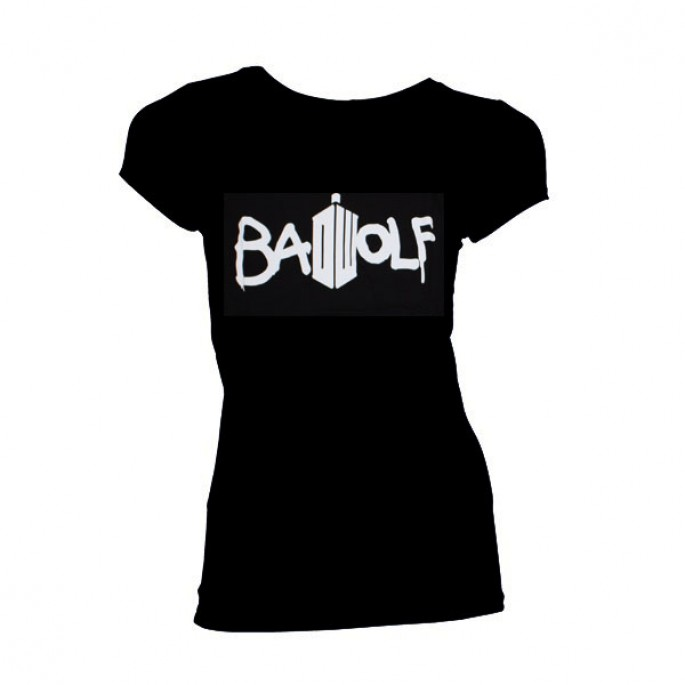 Doctor Who Bad Wolf Women's Juniors T-Shirt