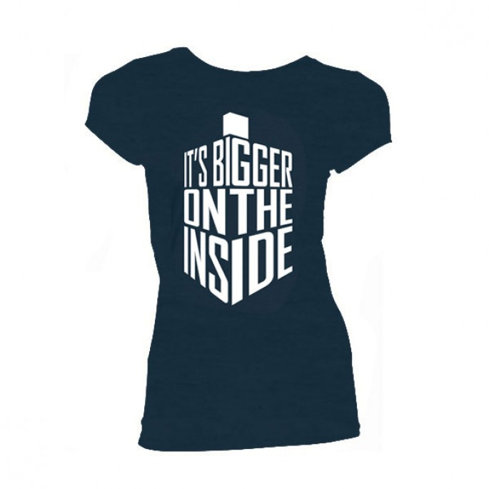 Doctor Who Bigger On The Inside Women's Juniors T-Shirt