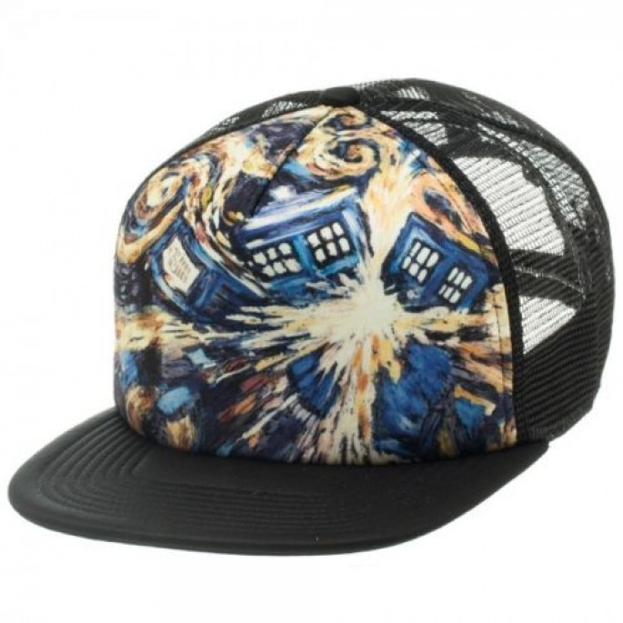 Doctor Who Van Gogh Exploding Tardis Baseball Cap